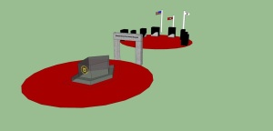 Arkansas Korean War Veterans Memorial (David Acosta: Nettleton Junior High School) Google Sketchup