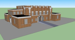 Craighead County Courthouse (Wesley Handwork: Nettleton Junior High School) Google SketchUp