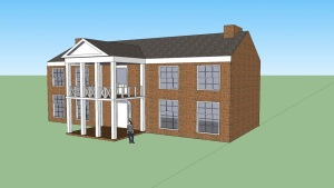 The Routh Bailey House of Fayetteville, Arkansas (Brant Erwin: Nettleton Junior High School) Google SketchUp