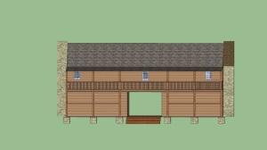 Jacob Wolf House (Aaron Vaupel: Nettleton Junior High) Google SketchUp